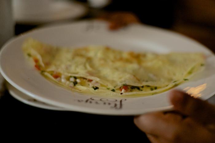 The Flurys take on a masala omelette ..
