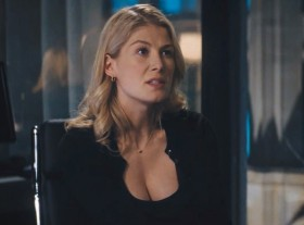 Rosamund Pike is the eye candy
