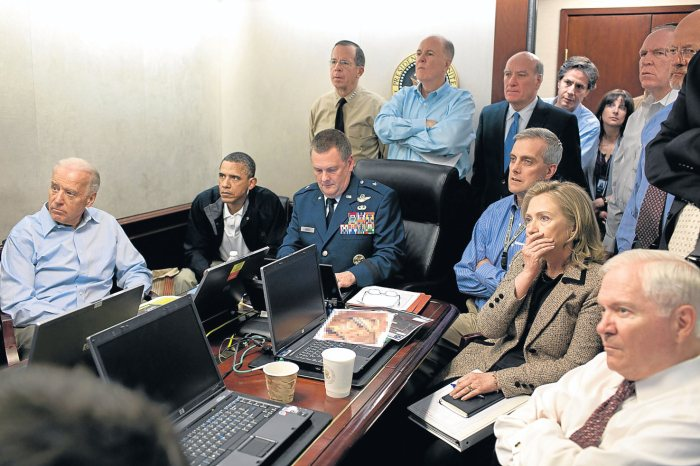 The iconic Situation Room photograph.