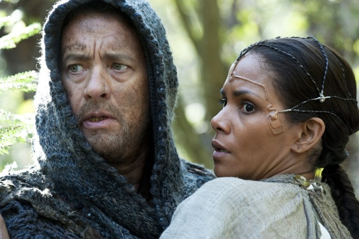 Tom Hanks as Zachary  and Halle Berry as Meronym,circa 2345