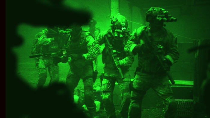 The raid on Bin Laden den is shot brilliantly and manages to thrill.