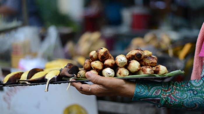 You can get your bananas roasted in Bangkok