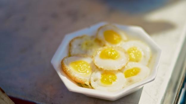 """Quail egg omelet""""lets""""."""