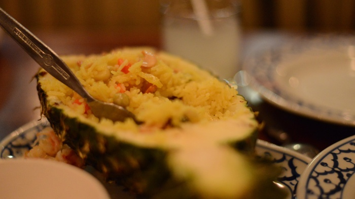 Pineapple fried rice must be one of the best Thai creations.