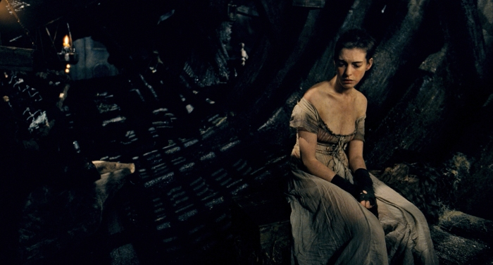 Anne Hathaway as Fantine with little hope of redemption on this earth.
