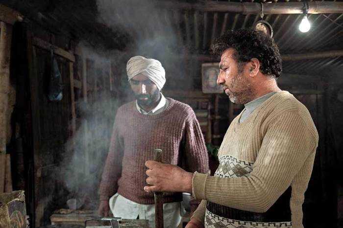 Melu Singh at a Dhaba which is nothing like the ones that people in luxury cars stop at for a taste of Punjab.