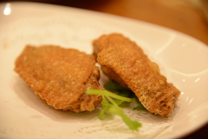 Chicken Wings with shrimp paste.