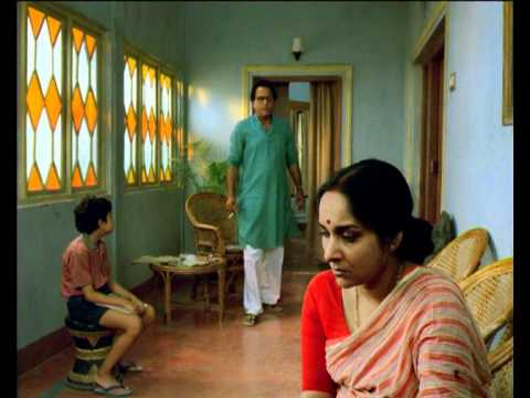 The picture of a divided family,Mamata Shankar as  Anila Bose is in the foreground.