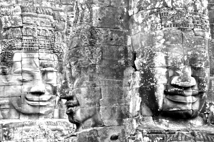 The very enigmatic Bayon temple.
