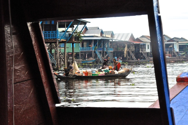 Kampung Phluck through the boat window.