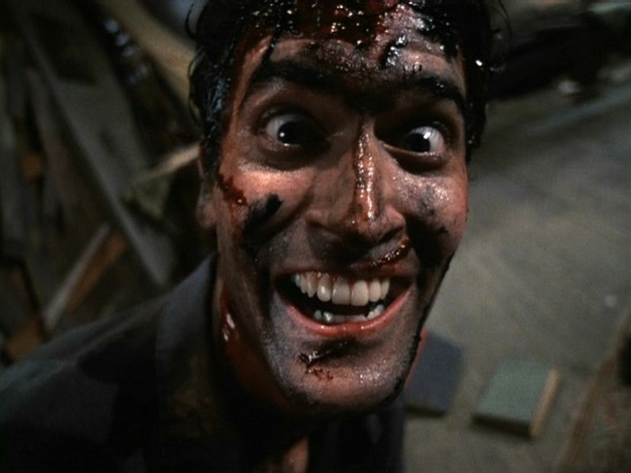 Bruce Campbell as Ash from  The Evil Dead..ah the delicious campiness of it all!