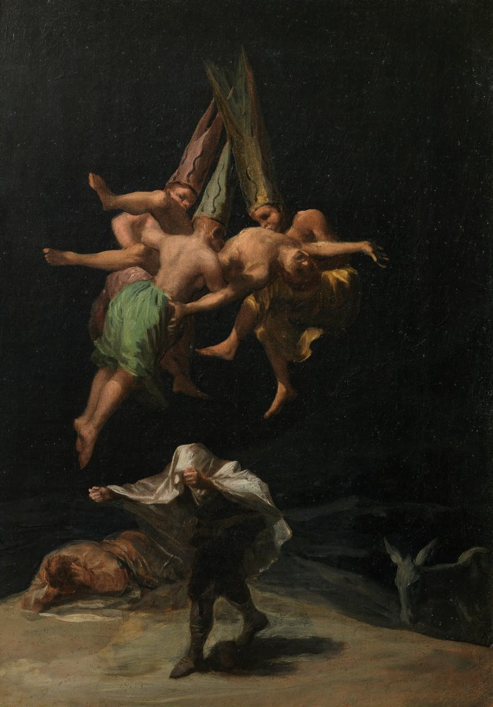 Francisco Goya's Witches in Air, 1798 Museo del Prado, Madrid, Spain