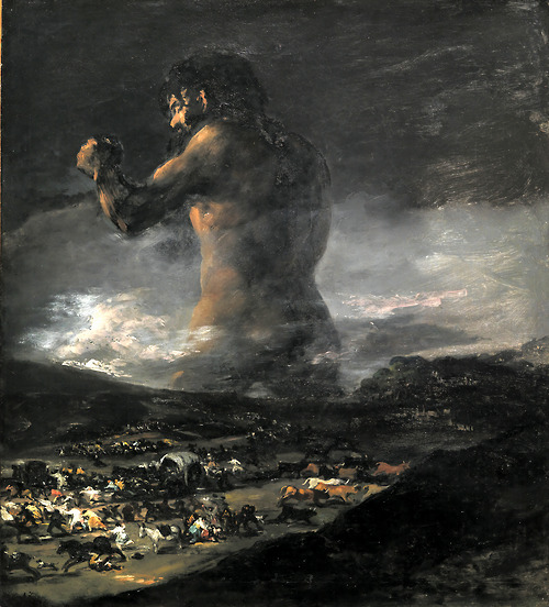 Goya's Colossus which was used by the director for inspiration.