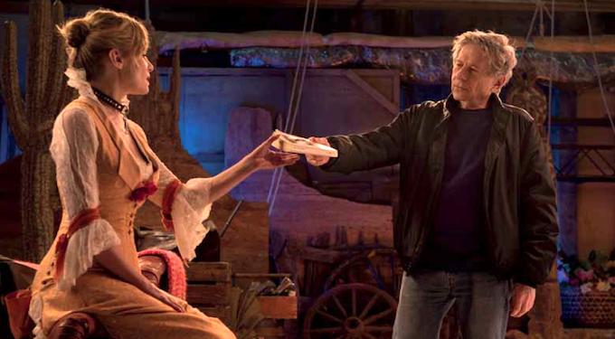 Polanski directing his wife.