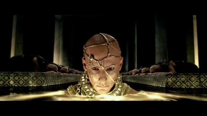 For the 12 feet tall Xerxes to come into his own you have to wait for the next film.