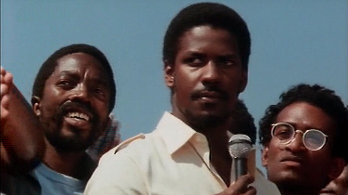 The young Denzel Washington as Steve Biko in Cry Freedom.